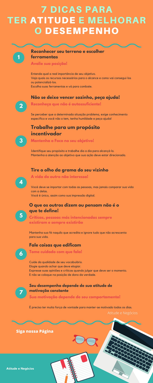 Infográfico: 7 dicas para ter atitude